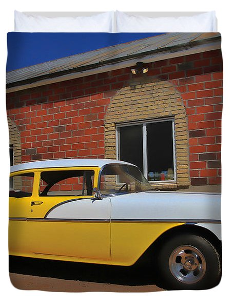Yellow Beast Duvet Cover by Joel Witmeyer