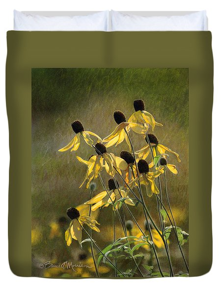 Yellow Coneflowers Duvet Cover