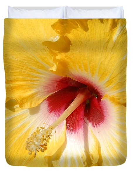 Yellow Fellow Duvet Cover by Cindy Manero