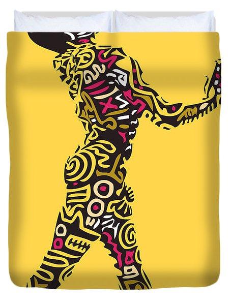 Yellow Haring Duvet Cover by Kamoni Khem