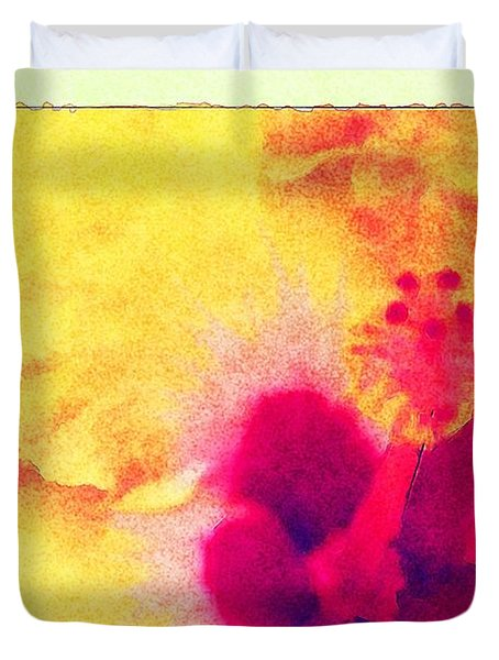 Yellow Hibiscus Flower Duvet Cover