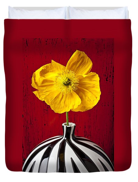 Yellow Iceland Poppy Duvet Cover by Garry Gay
