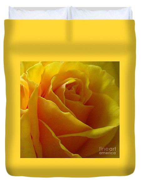 Yellow Rose Of Texas Duvet Cover