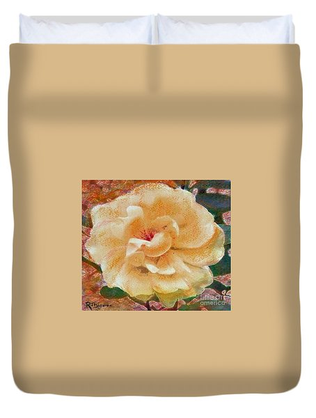 Yellow Rose Duvet Cover by Richard James Digance