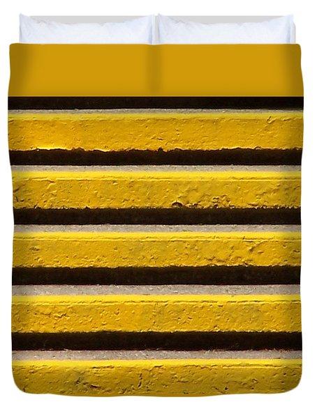 Yellow Steps Duvet Cover