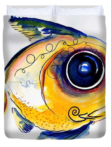 Yellow Study Fish Duvet Cover by J Vincent Scarpace