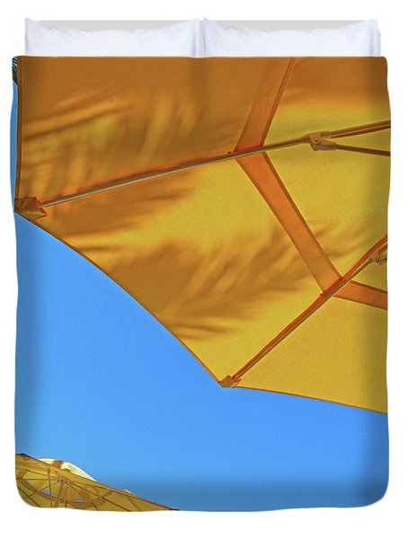 Duvet Cover featuring the photograph Yellow Time  by Lizi Beard-Ward