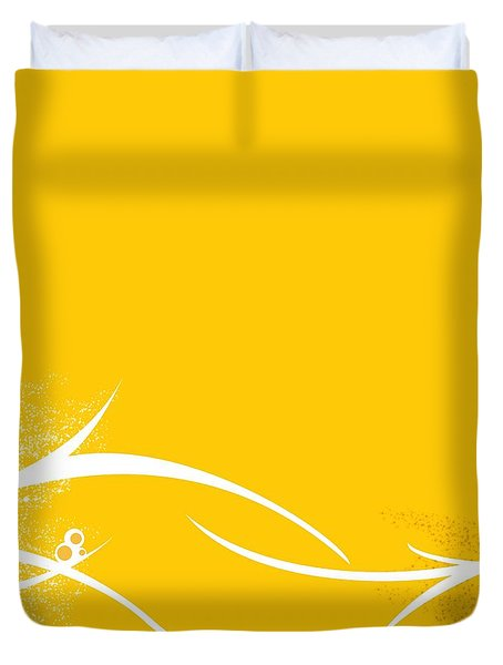 Yellow Twigs Duvet Cover