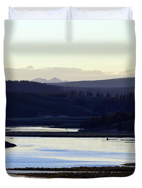 Yellowstone Landscapes Duvet Cover