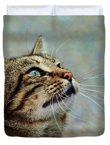 Yes I Am A Pretty Kitty Duvet Cover by Debbie Portwood