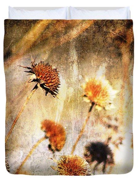 Yesterday's Flowers Duvet Cover