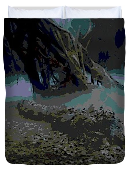 Yoda In Meditation Duvet Cover
