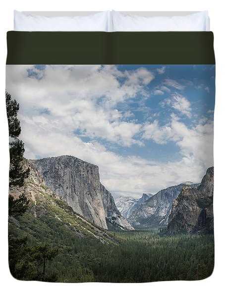 Yosemite Valley From Tunnel View At Yosemite Np Duvet Cover