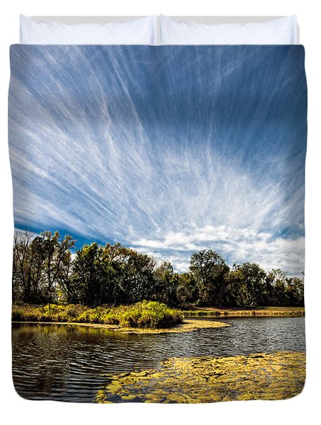 Duvet Cover featuring the photograph You Cannot Be Cirrus by Tom Gort