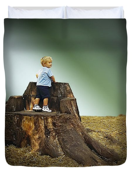 Young Boy Duvet Cover by Brian Wallace