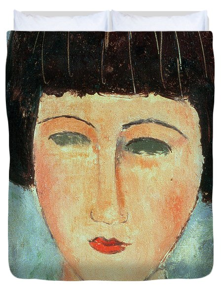 Young Brunette Duvet Cover by Modigliani
