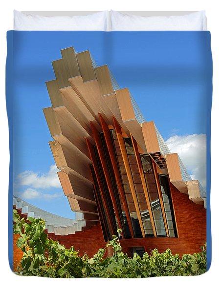 Ysios Winery Spain Duvet Cover by John Stuart Webbstock