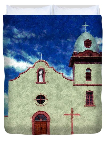Ysleta Mission Texas Duvet Cover by Kurt Van Wagner