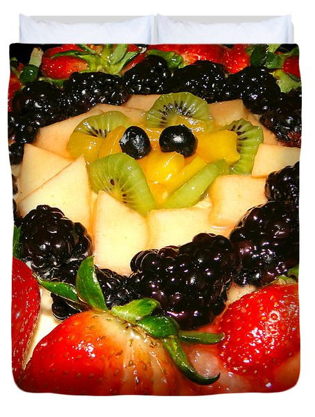 Yummy Fruit Dessert Duvet Cover