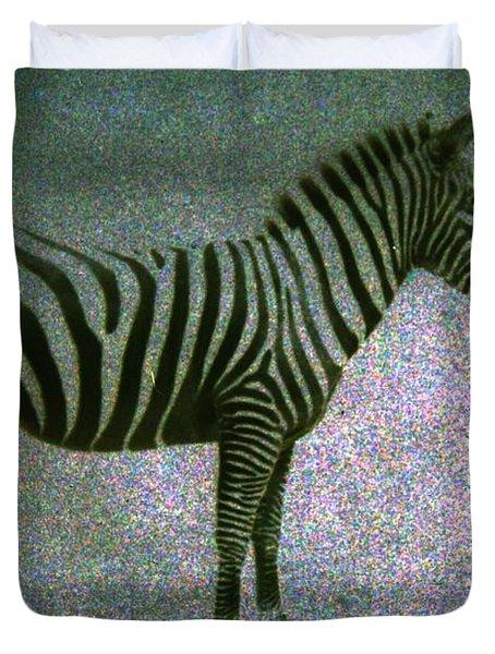 Zebra Duvet Cover by Kelly Hazel