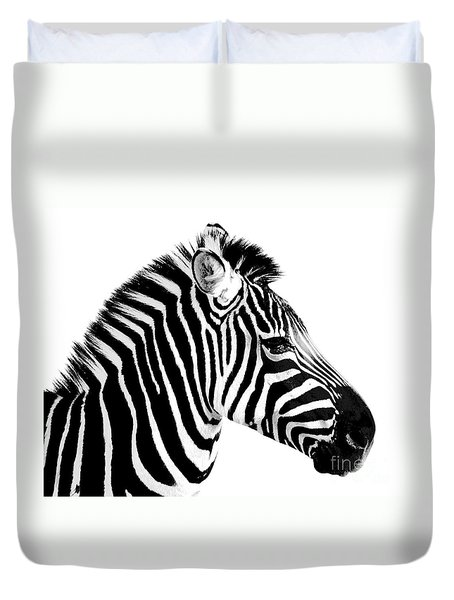 Duvet Cover featuring the photograph Zebra by Rebecca Margraf