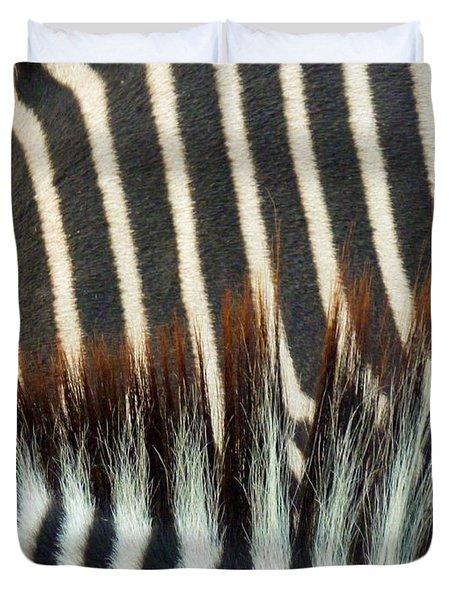 Zebra Stripes Duvet Cover by Methune Hively