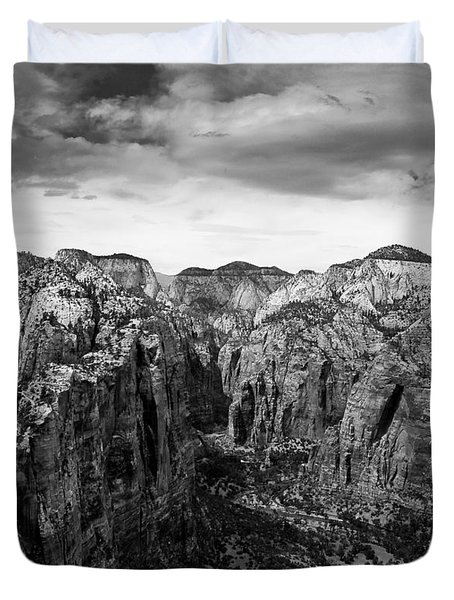 Zion National Park - View From Angels Landing Duvet Cover