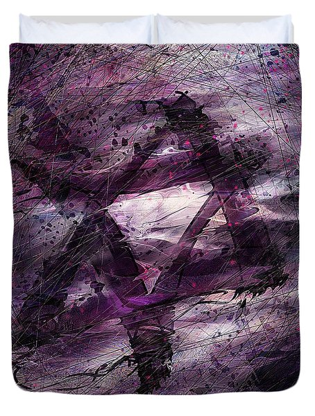 . . . When We Remembered Zion Duvet Cover by Rachel Christine Nowicki