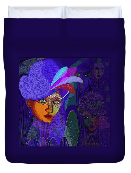 048 - Electric Blue ...  Duvet Cover by Irmgard Schoendorf Welch