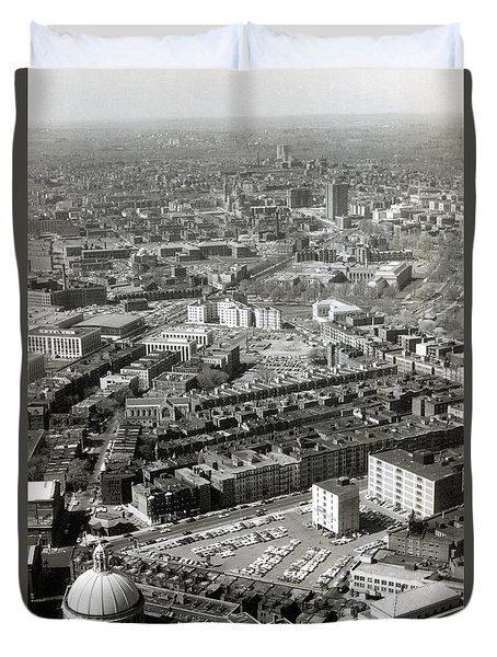 1965 Aerial View Of Boston No.1 Duvet Cover