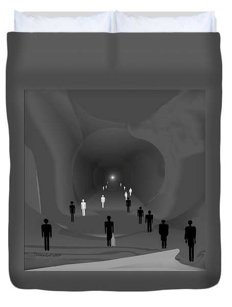 249 - The Light At The End Of The Tunnel   Duvet Cover
