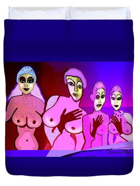 521 - Fine New Tits  Duvet Cover