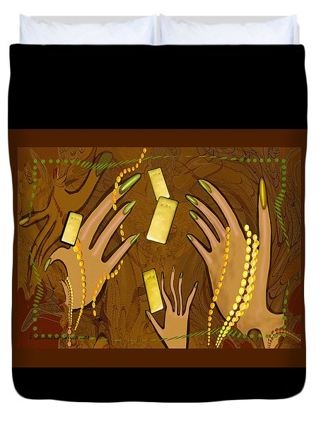 548 - Gold Fingers .... Duvet Cover by Irmgard Schoendorf Welch