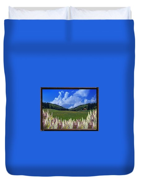 Duvet Cover featuring the photograph  A Beautiful View by Bernd Hau