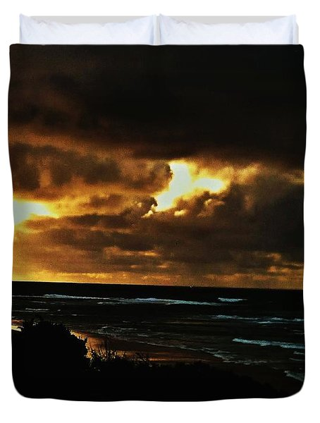 A Stormy Sunrise Duvet Cover
