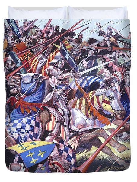 Agincourt The Impossible Victory 25 October 1415 Duvet Cover by Ron Embleton