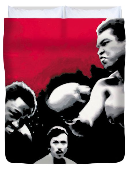- Ali Vs Fraser - Duvet Cover by Luis Ludzska