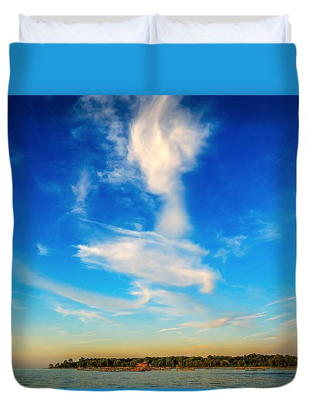 Angel  Walking On Air  Duvet Cover