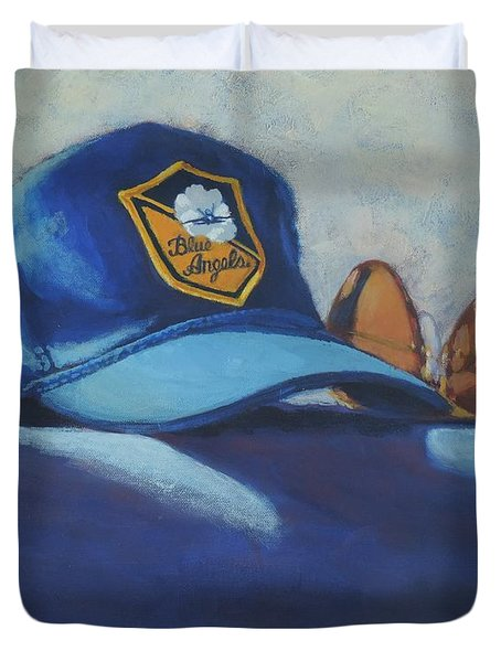 Angels Hat And Sunglasses Duvet Cover