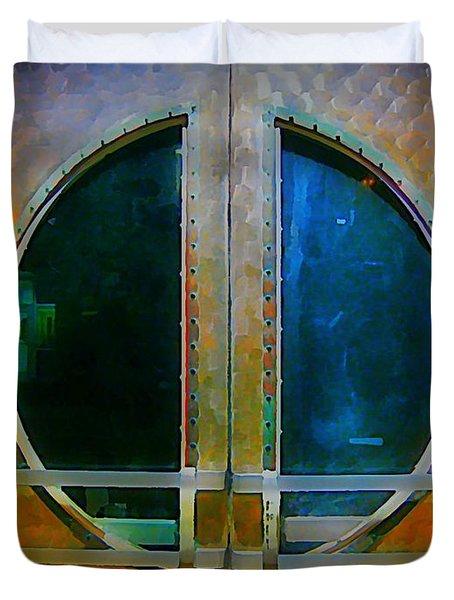 Art Deco Door In Halifax Nova Scotia Duvet Cover by John Malone