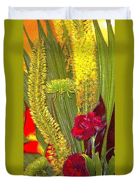 Artistic Floral Arrangement Duvet Cover by Merton Allen