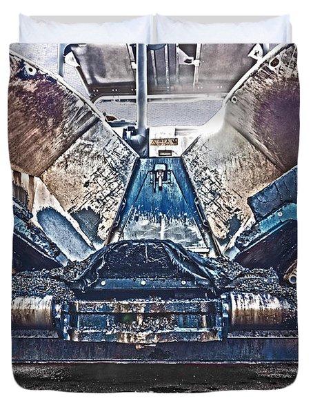 Asphalt Paver Duvet Cover by Terri Waters