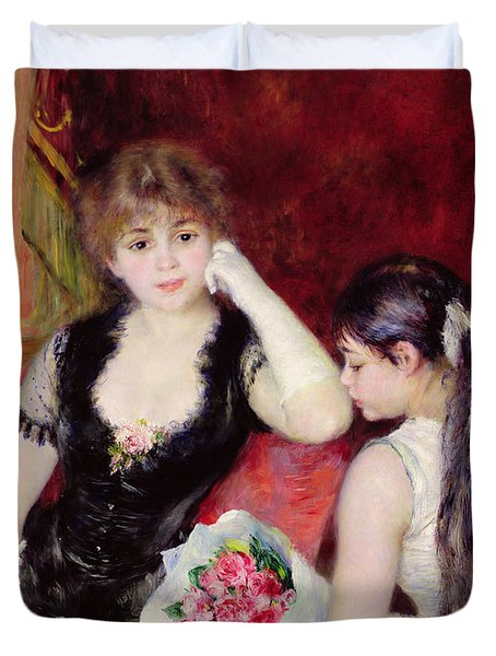 At The Concert Duvet Cover by Pierre Auguste Renoir