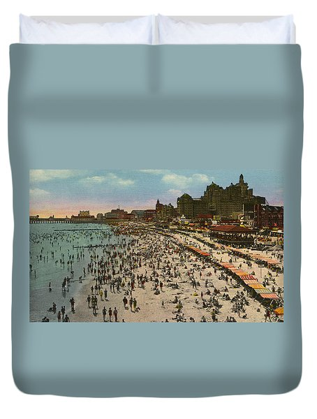 Atlantic City Spectacle Duvet Cover by Unknown