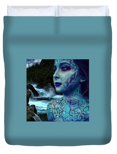 Atlantis Mermaid  Duvet Cover