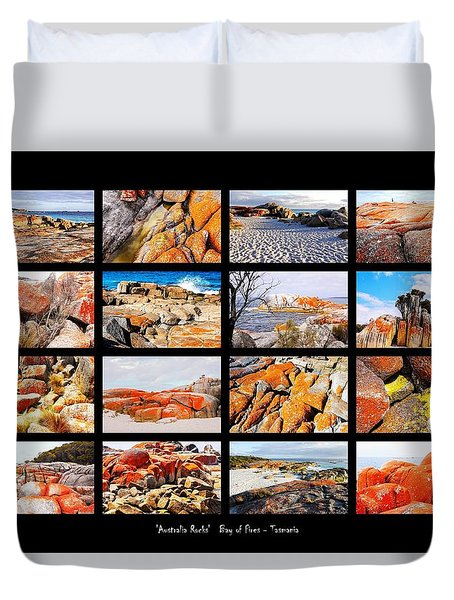 ' Australia Rocks ' - Bay Of Fires - Tasmania Duvet Cover