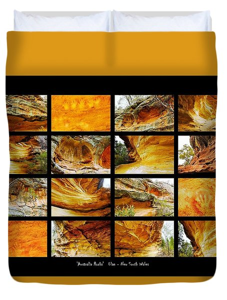 ' Australia Rocks ' - Hands On Rock - Ulan, New South Wales Duvet Cover