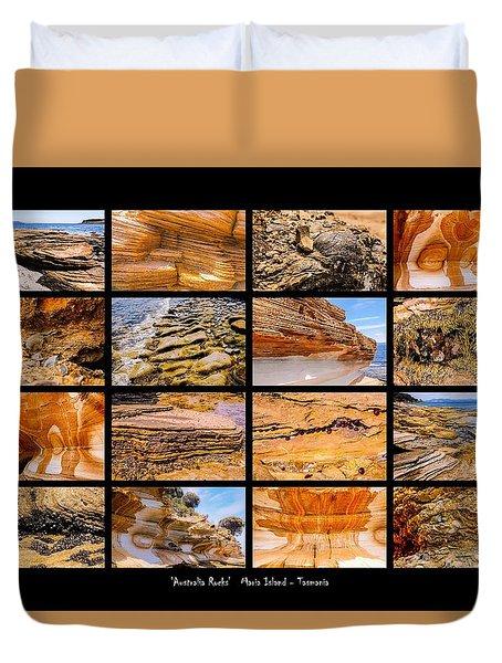 ' Australia Rocks ' - Maria Island - Tasmania Duvet Cover