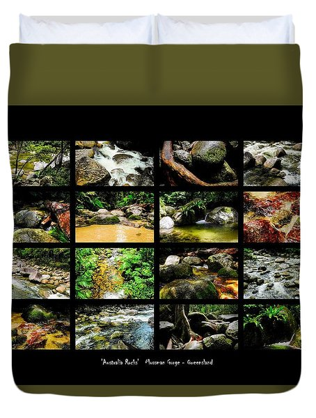 ' Australia Rocks ' Mossman Gorge - North Queensland Duvet Cover