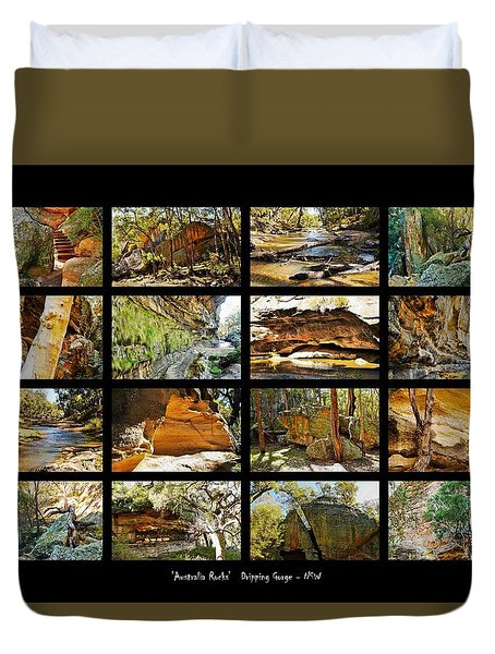 ' Australia Rocks ' - The Dripping Gorge - New South Wales Duvet Cover